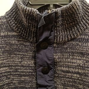 Express men's large sweater 1/4 zip snaps